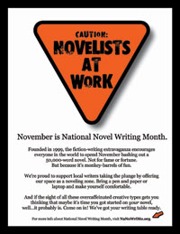 Novelists at Work Flyer