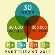 National Novel Writing Month Participant Badge: 30 days, 50,000 words